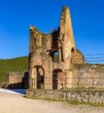 Mittelalterliche Schlossruine in Deutschland Stockfotos