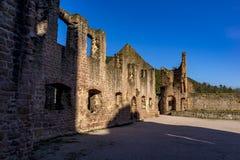 Mittelalterliche Schlossruine in Deutschland Lizenzfreie Stockfotografie