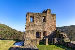 Mittelalterliche Schlossruine in Deutschland Stockbilder
