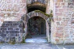 Mittelalterliche Schlossruine in Deutschland Lizenzfreies Stockfoto