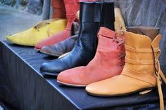 Mittelalterliche Schuhe Stockbilder