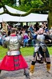 Mittelalterliche Soldaten Stockfotos