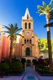 Mittelalterliche spanische Kirche bei Sonnenuntergang Lizenzfreie Stockfotos