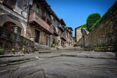 Mittelalterliche spanische Stadt Stockfotografie