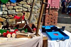 Mittelalterliche Spielwaren in einer Marmantile-Stadt Lizenzfreie Stockbilder