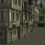 Mittelalterliche Stadt Stockbilder