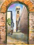 Mittelalterliche Stadt stock abbildung