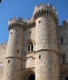 Mittelalterliche Stadt des alten Schlosses von Rhodos stockbilder