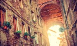 Mittelalterliche Stadt, Italien stockfoto