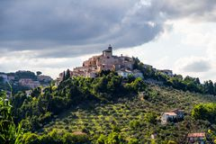 Mittelalterliche Stadt Loreto Aprutino, Abruzzo, Italien Stockfotografie