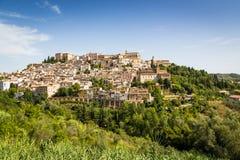 Mittelalterliche Stadt Loreto Aprutino, Abruzzo, Italien Lizenzfreie Stockfotos