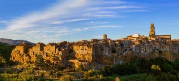 Mittelalterliche Stadt Pitigliano in Toskana Italien Lizenzfreie Stockfotos