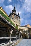 Mittelalterliche Stadt Sighisoara Stockbild