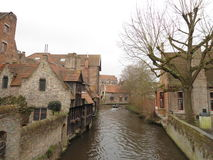 Mittelalterliche Stadt von Brügge Stockfotografie