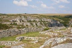 Mittelalterliche Stadt von Cherven, Bulgarien Stockbild