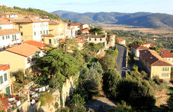 Mittelalterliche Stadt von Cortona, Toskana, Italien Lizenzfreies Stockfoto