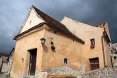Mittelalterliche Stadt von Rasnov Stockfoto