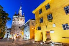 Mittelalterliche Stadt von sighisoara lizenzfreie stockfotografie