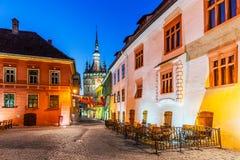 Mittelalterliche Stadt von sighisoara lizenzfreies stockfoto