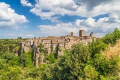 Mittelalterliche Stadt von Vitorchiano in Lazio, Italien lizenzfreies stockfoto