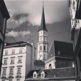 Mittelalterliche Stadtmitte Stockbilder