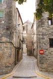 Mittelalterliche Stadtstraße Stockfotos