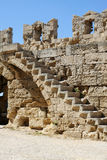 Mittelalterliche Stadtwand Stockfotos