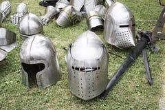 Mittelalterliche Stahlgeschichte stockfotos