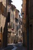 Mittelalterliche Straße Stockfotografie