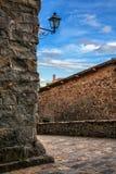 Mittelalterliche Straße stockfotos