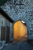 Mittelalterliche Straße, Haute-Vienne-Abteilung von Limousin Stockfoto