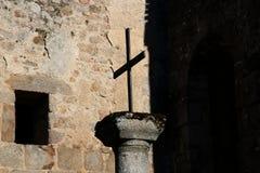 Mittelalterliche Straße, Haute-Vienne-Abteilung von Limousin Stockfotos