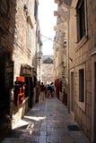 Mittelalterliche Straße von Korcula lizenzfreie stockfotos