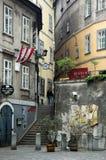 Mittelalterliche Straße, Wien stockbilder