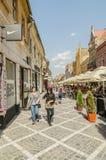 Mittelalterliche Straßen Brasov Stockfotografie