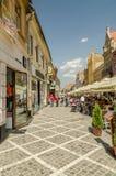 Mittelalterliche Straßen Brasov Stockbild