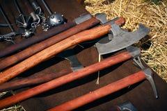 Mittelalterliche stumpfe Waffen Stockfotos