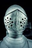 Mittelalterliche Sturzhelme Stahl Lizenzfreie Stockfotos