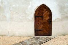 Mittelalterliche Tür Stockfoto