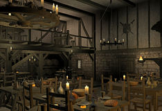 Mittelalterliche Taverne stockfoto