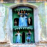 Mittelalterliche Uhr in der mittelalterlichen Stadt Sighisoara, Siebenbürgen Lizenzfreie Stockbilder