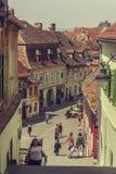 Mittelalterliche untere Stadt, Sibiu, Rumänien Lizenzfreie Stockfotos