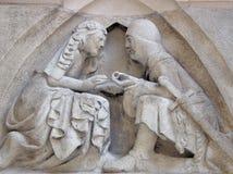 Mittelalterliche Verpflichtung Stockfoto