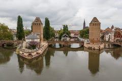Mittelalterliche Verstärkungen von Straßburg lizenzfreie stockfotos