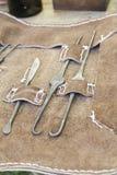Mittelalterliche Waffenfolterung stockfotografie
