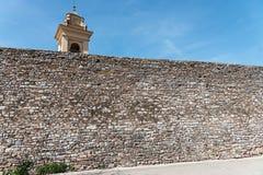 Mittelalterliche Wand Stockfoto