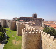 Mittelalterliche Wand Avila, Spanien Stockfotografie