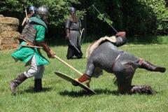 Mittelalterliche Wiederinkraftsetzung Lizenzfreies Stockfoto