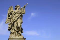 Mittelalterliche Zahl eines Engels auf dem berühmten Brücke Heilig-Angelo-Br Lizenzfreies Stockbild