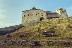 Mittelalterliche Zitadelle Rasnov, Rumänien stockbild